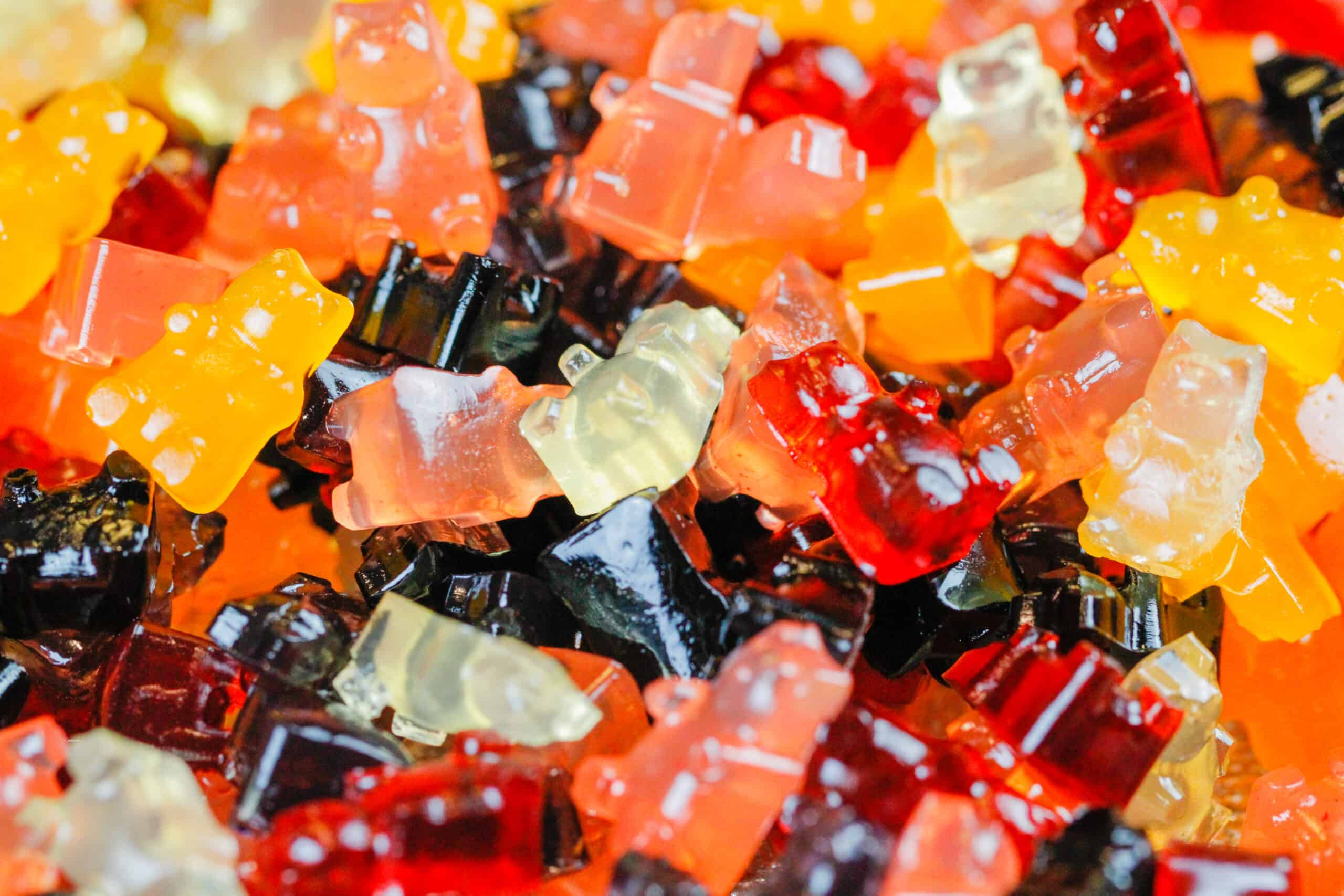 image of healthy gummies piled together to show the different flavors