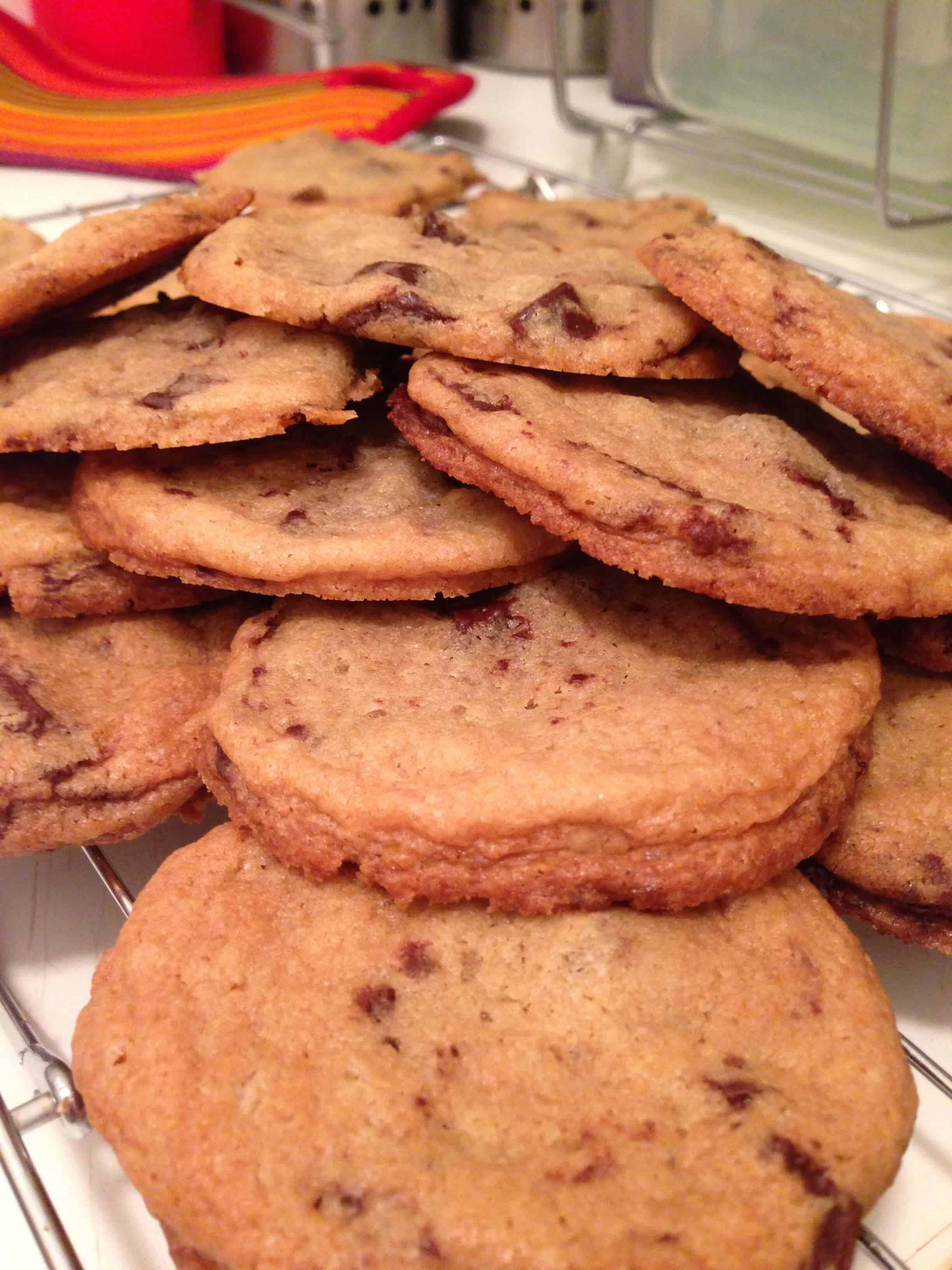 image of chewy chocolate chip cookies baked from scratch