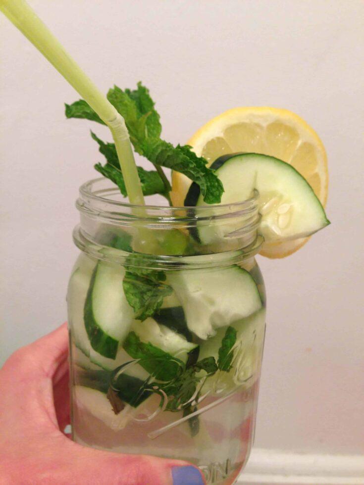 image of cucumber lemon water
