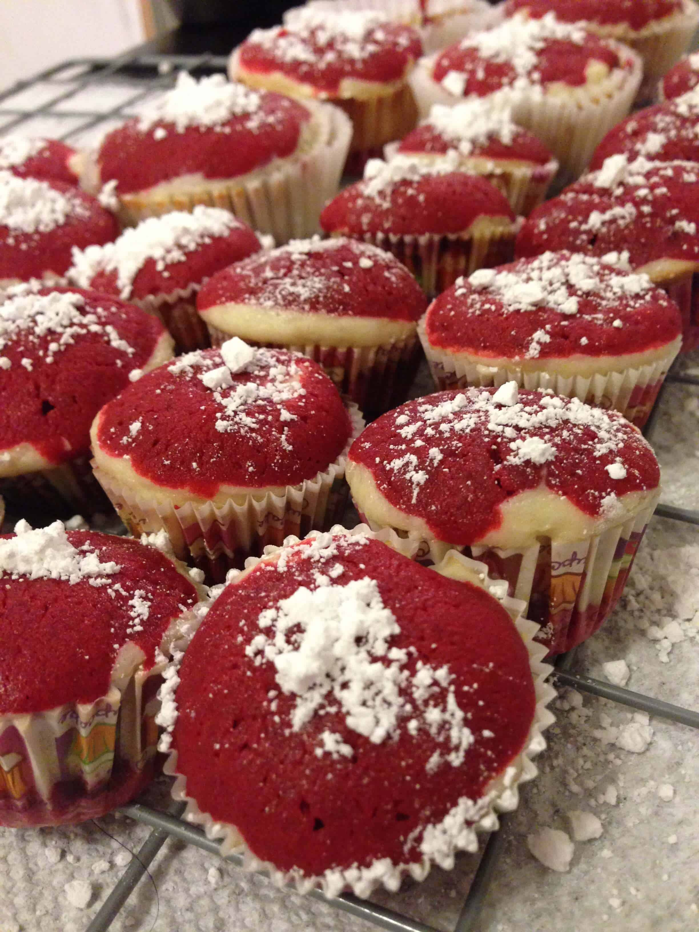 image of layered red velvet cupcakes