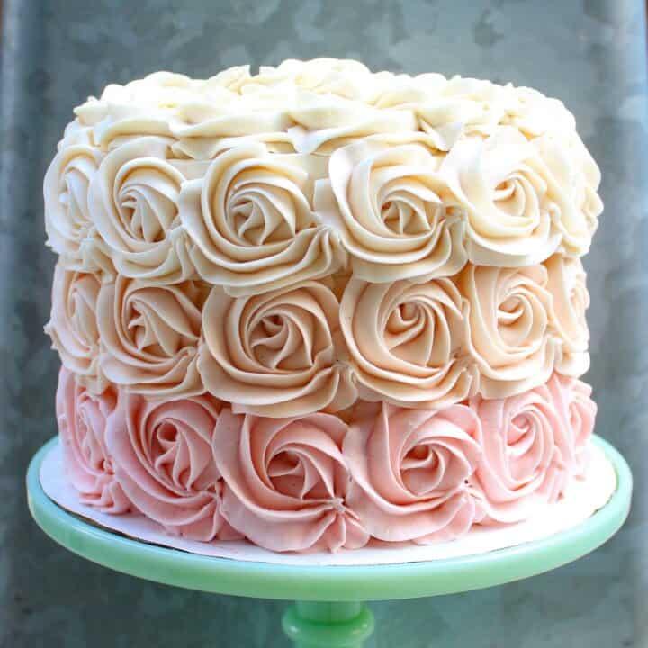 Chelsweets Buttercream Rosette Cake