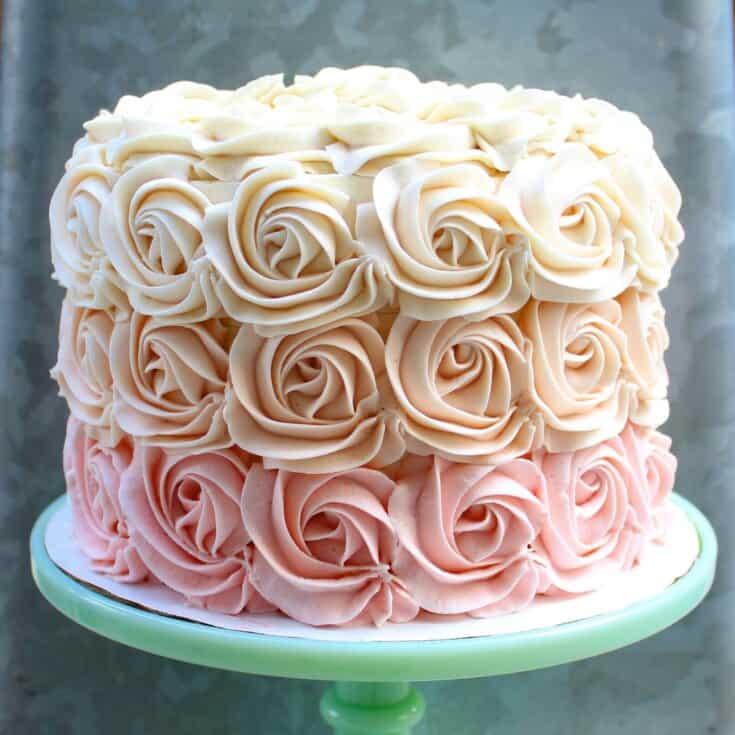 Rose Flavored Cake Recipe