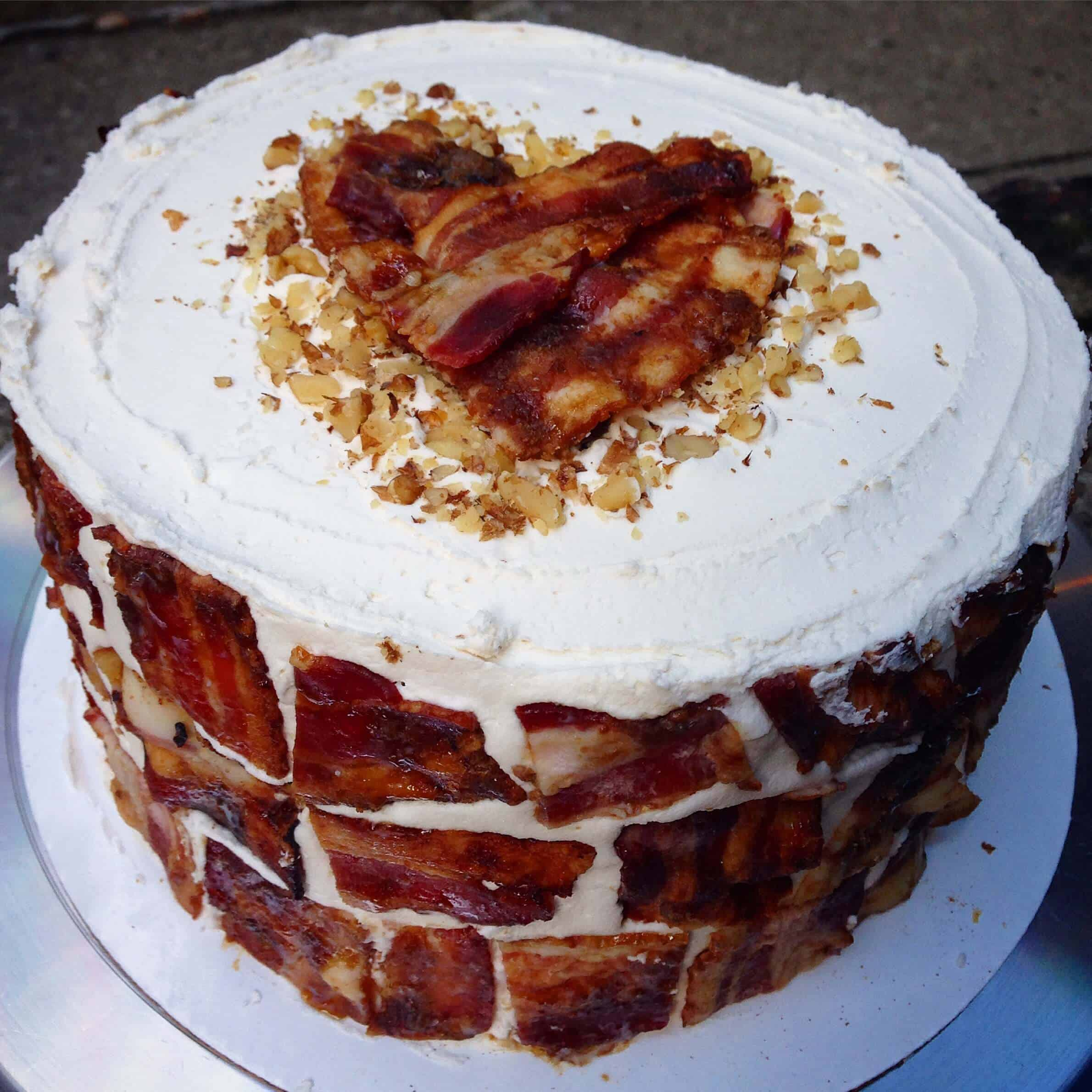 Tremendous The Maple Bacon Breakfast Birthday Cake Chelsweets Funny Birthday Cards Online Aboleapandamsfinfo