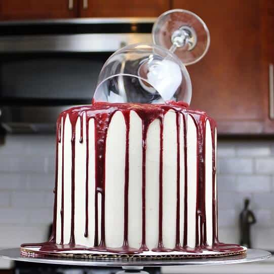 """One Glass Too Many"" Red Wine Cake"