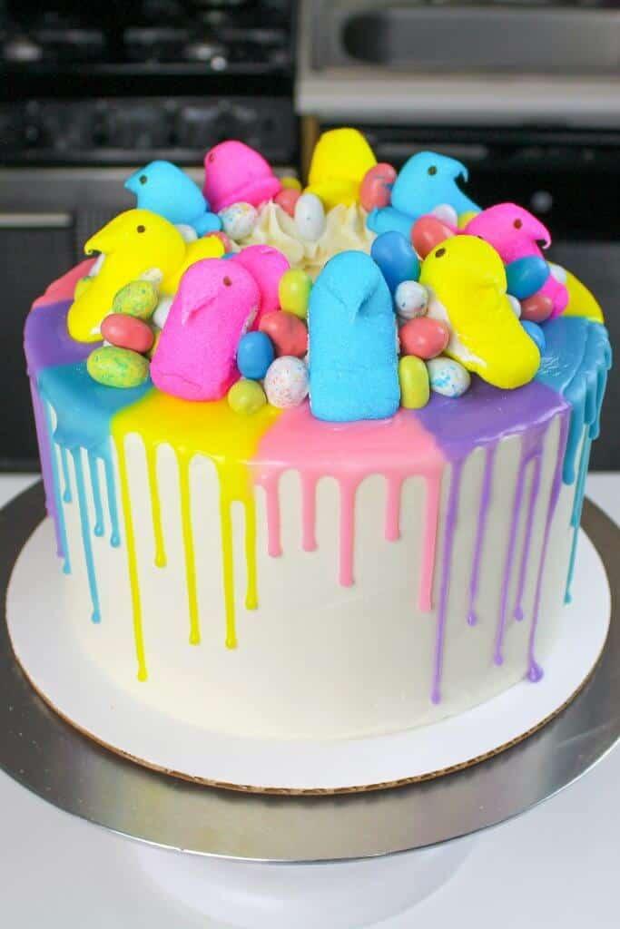 easter cake idea - pastel drip cake