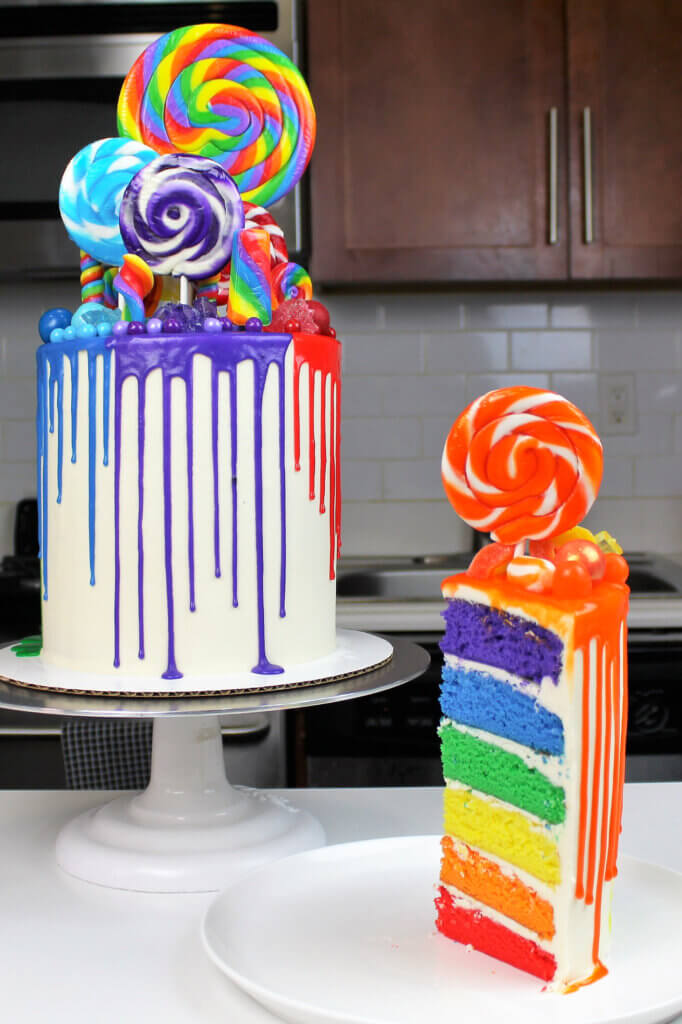rainbow cake recipe photo