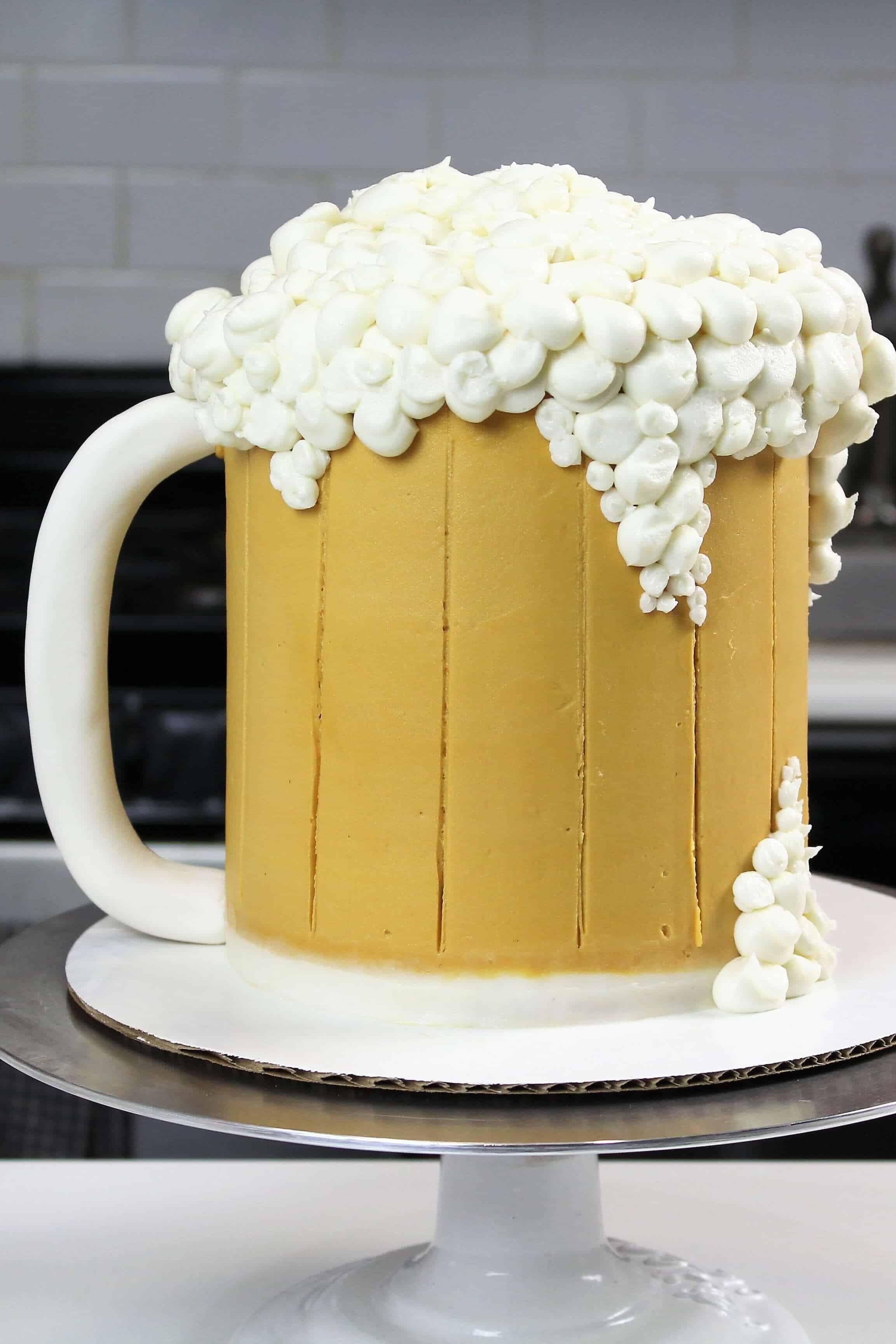 Beer Mug Cake - Chelsweets
