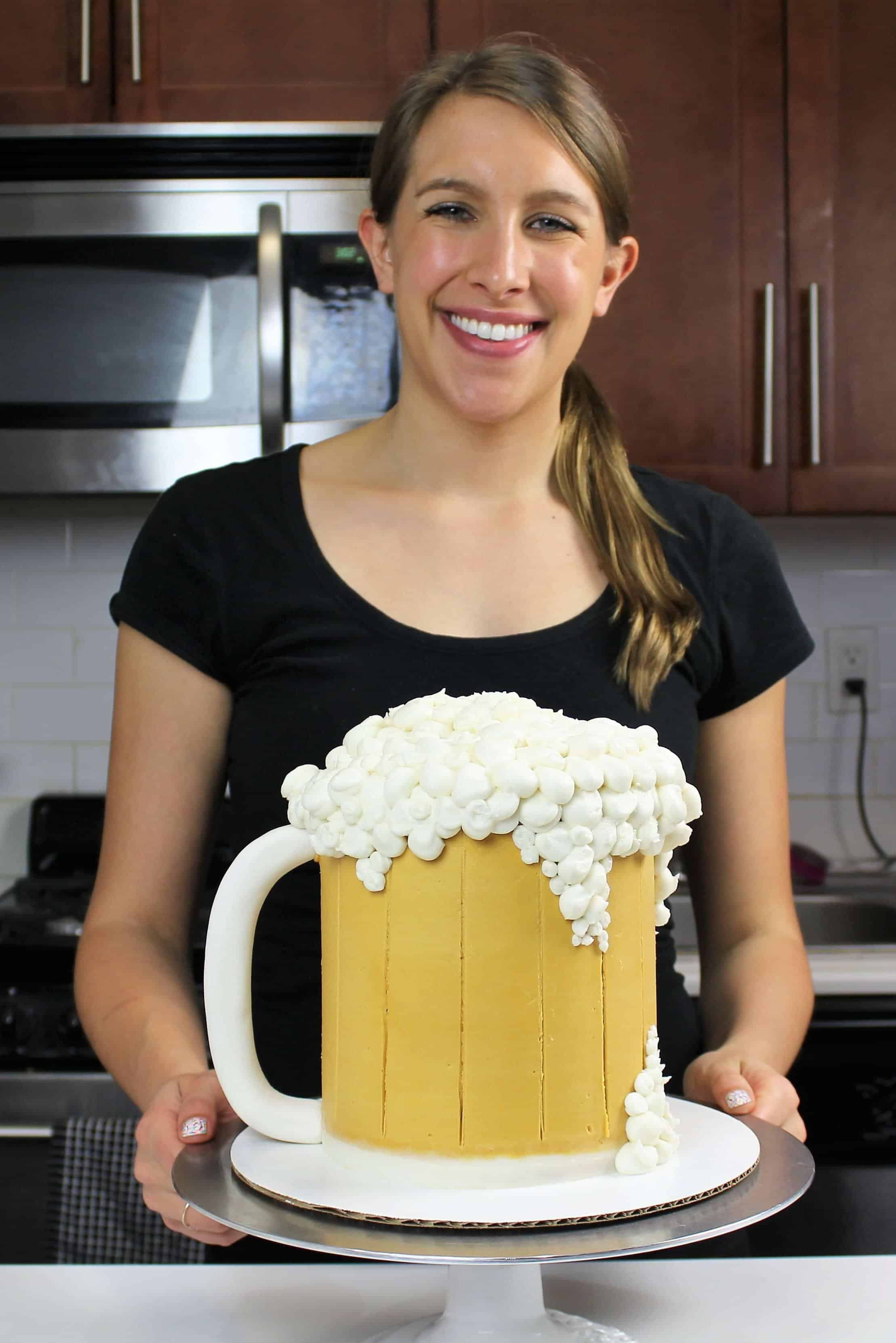 Chelsey White with IPA Beer Mug Cake