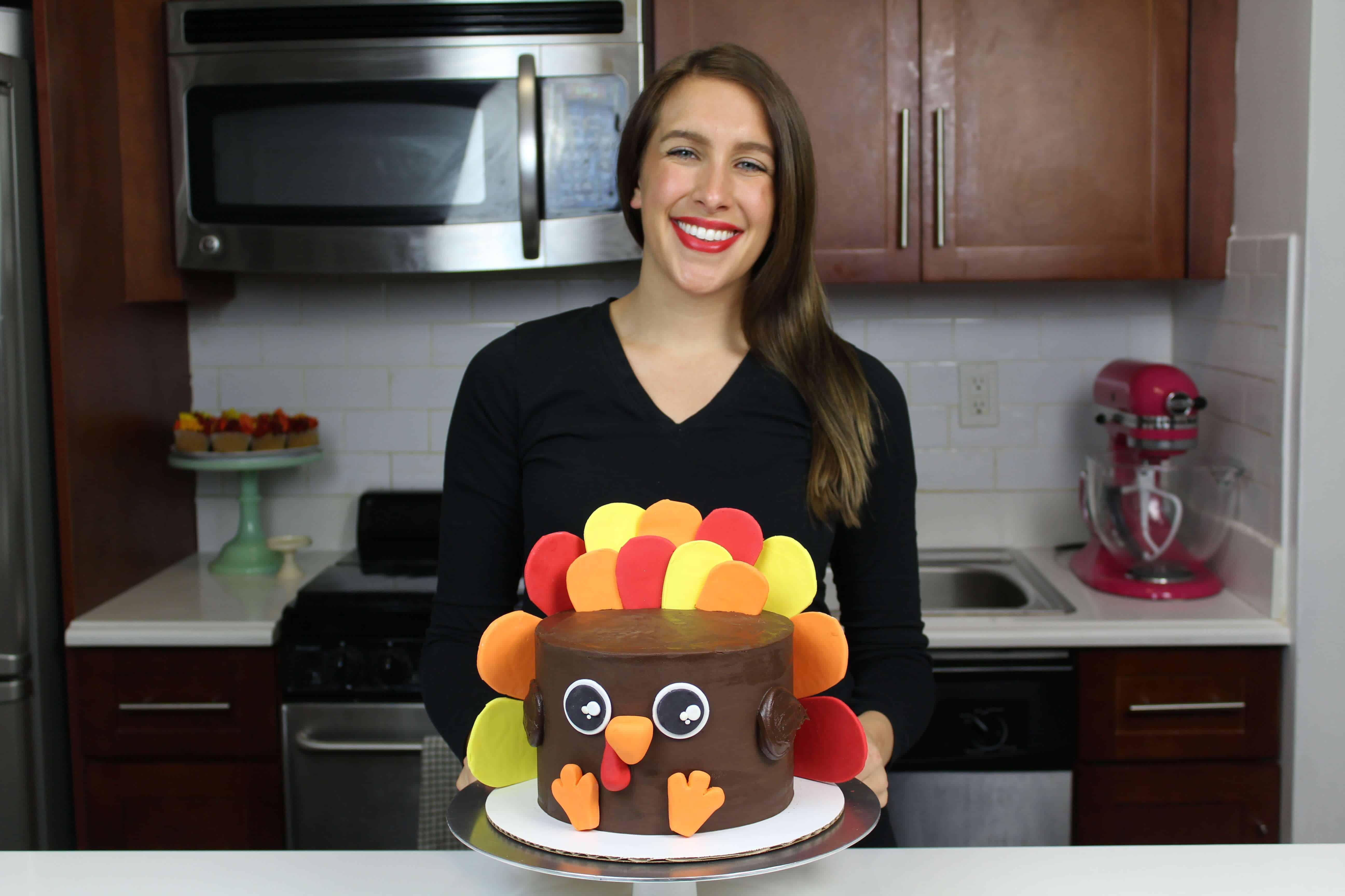 image of chelsey white with turkey cake
