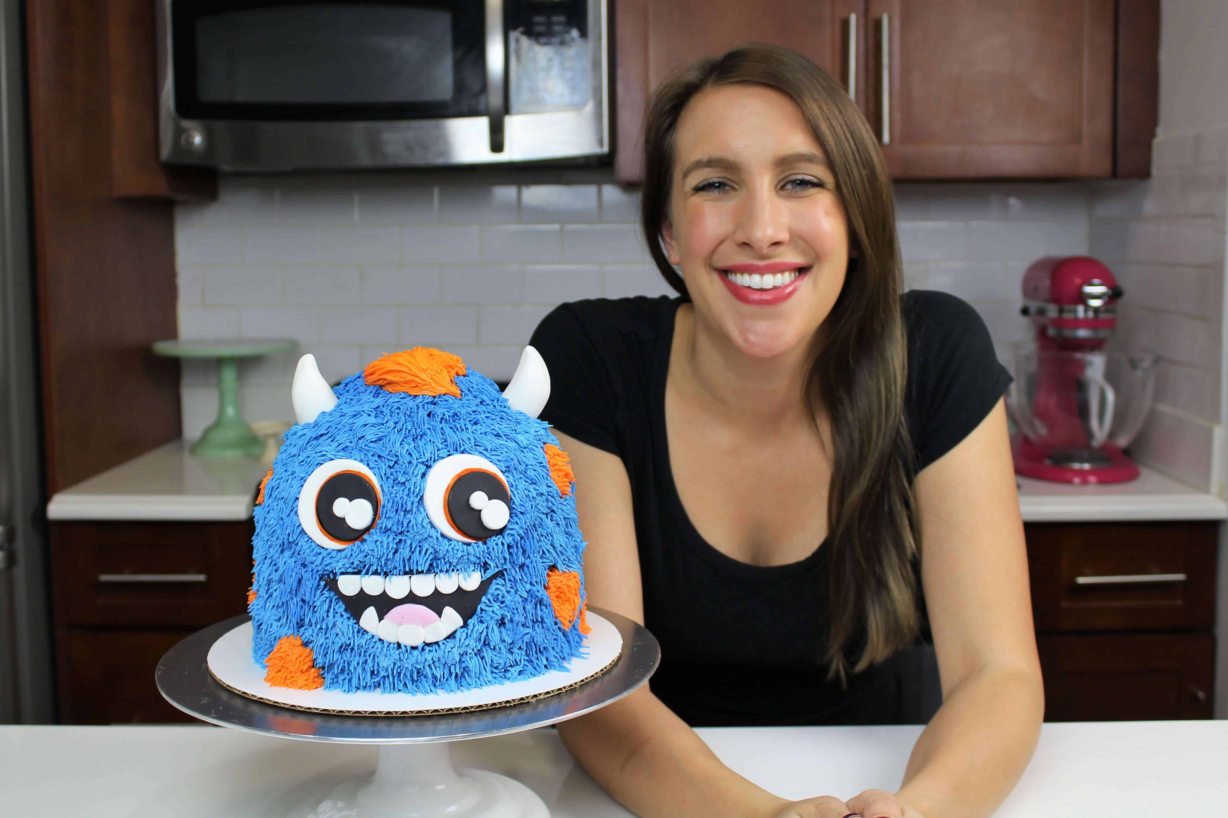 image of  chelsey white with monster cake