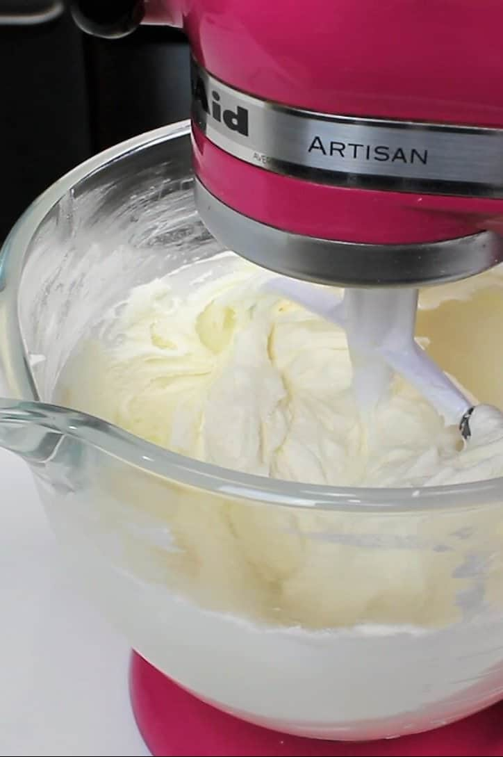 batch of american buttercream made with a paddle attachment