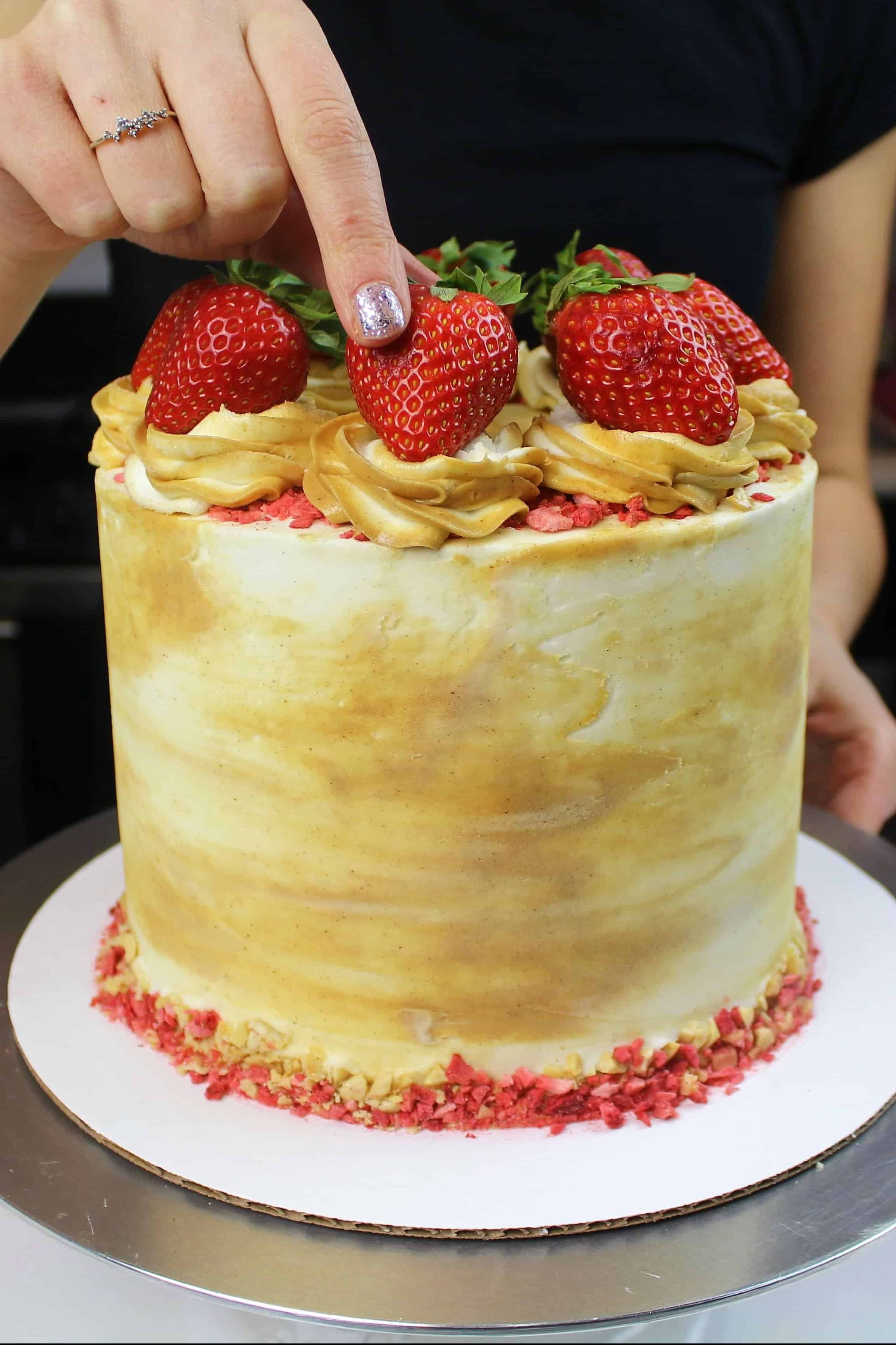 Peanut Butter and Jelly Layer Cake