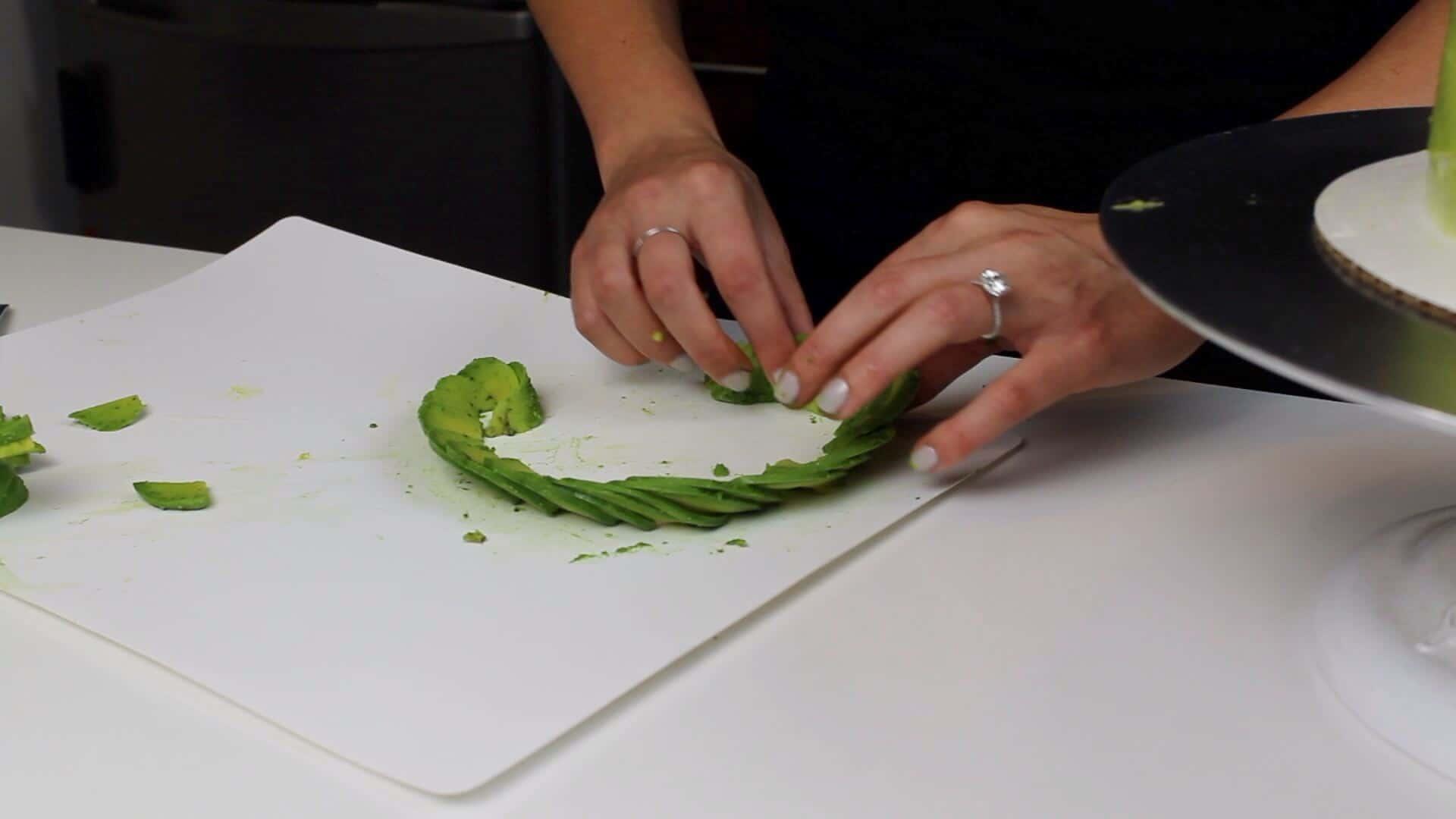 avocado thinly sliced