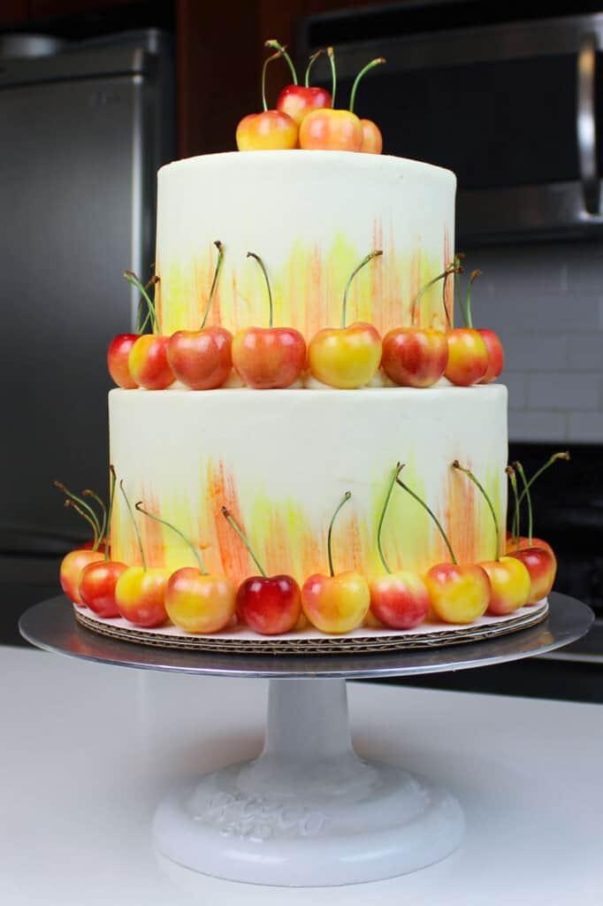 image of rainier cherry cake