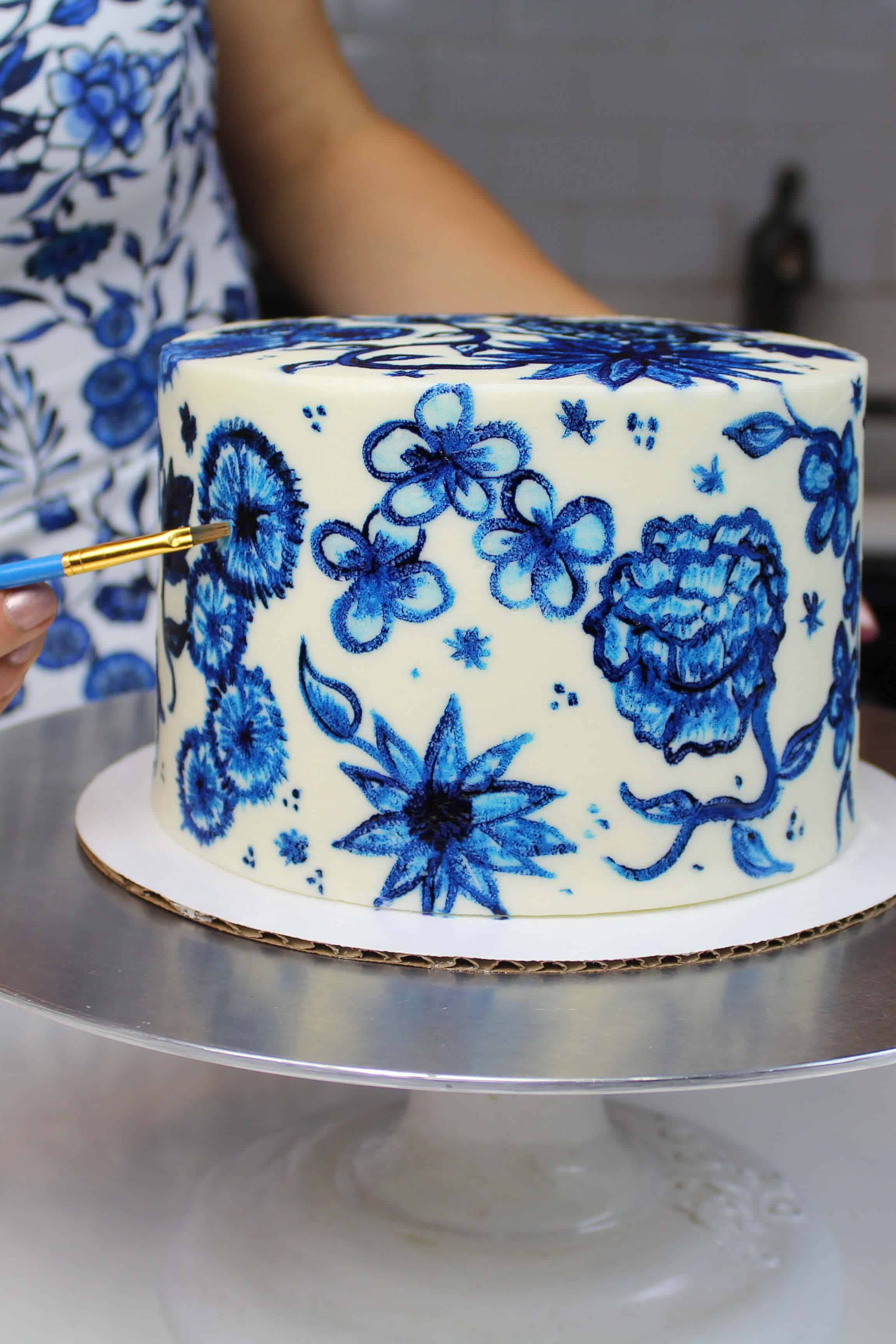 Painted Buttercream Cake Easy Tutorial Chelsweets