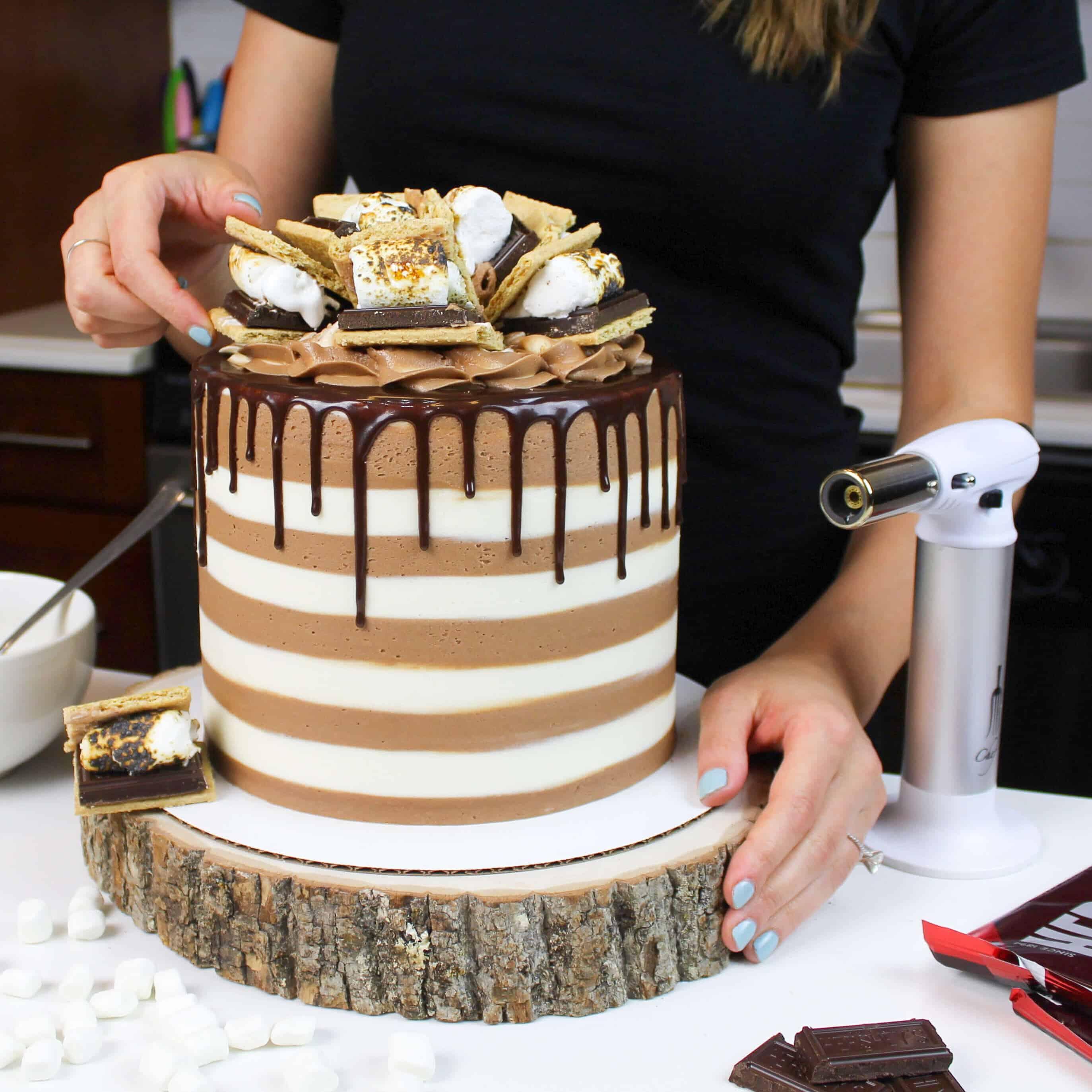 image of smores drip cake