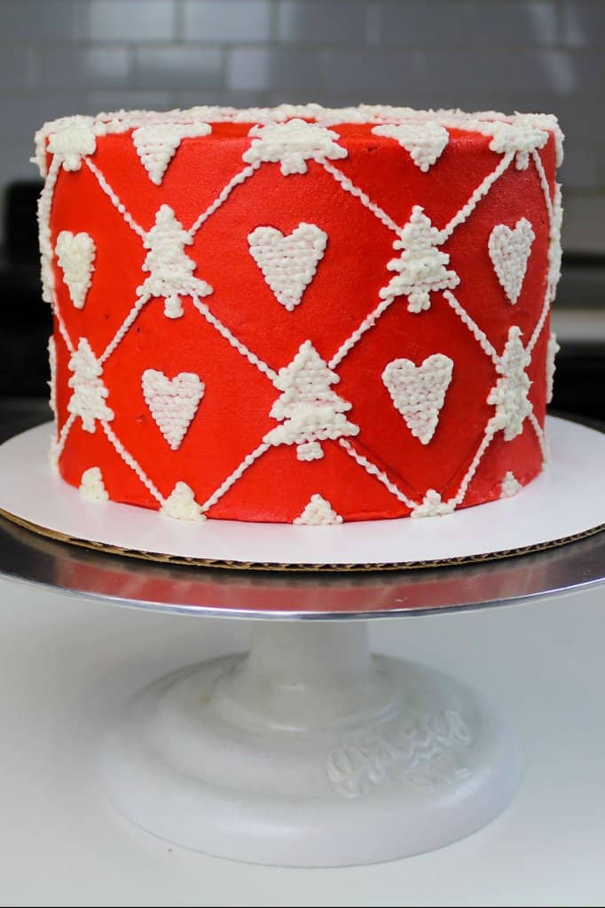 Knitted Christmas Sweater Cake - Chelsweets