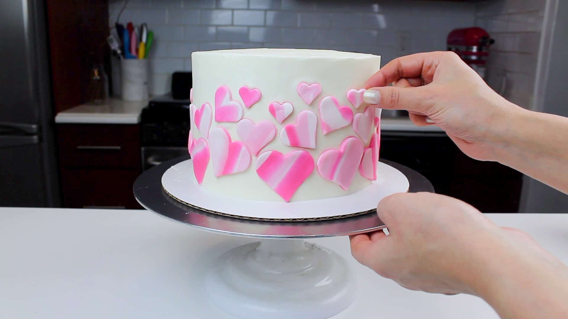 adding hearts to the sides