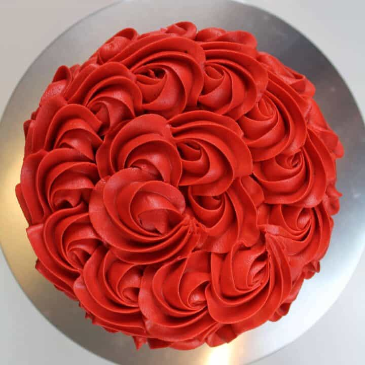 Bright Red Buttercream Frosting