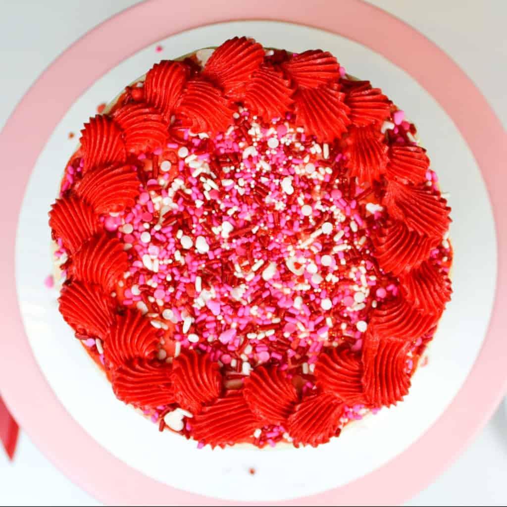 Valentine's Day Sprinkle Cake