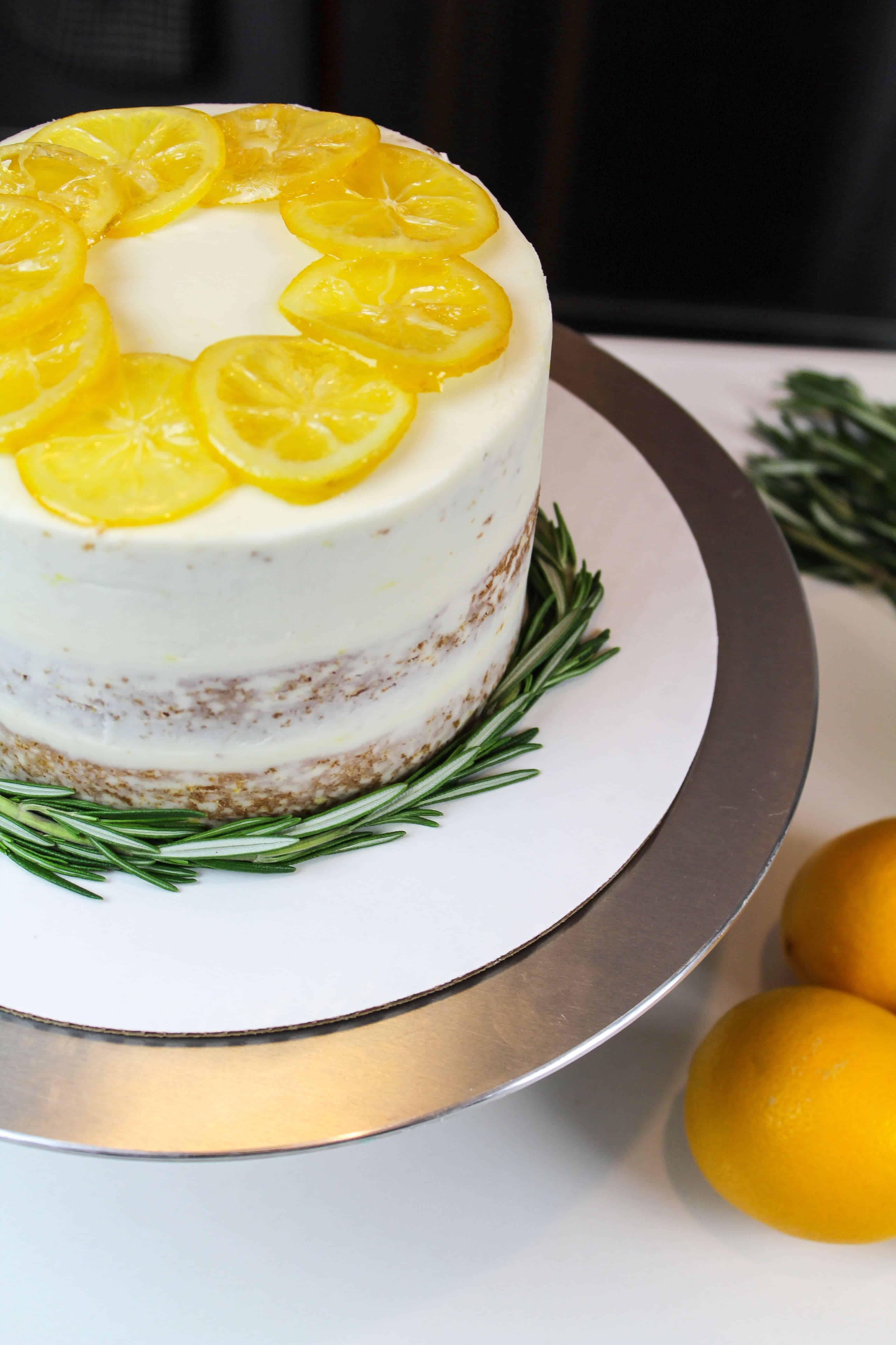 Lemon Olive Oil Layer Cake