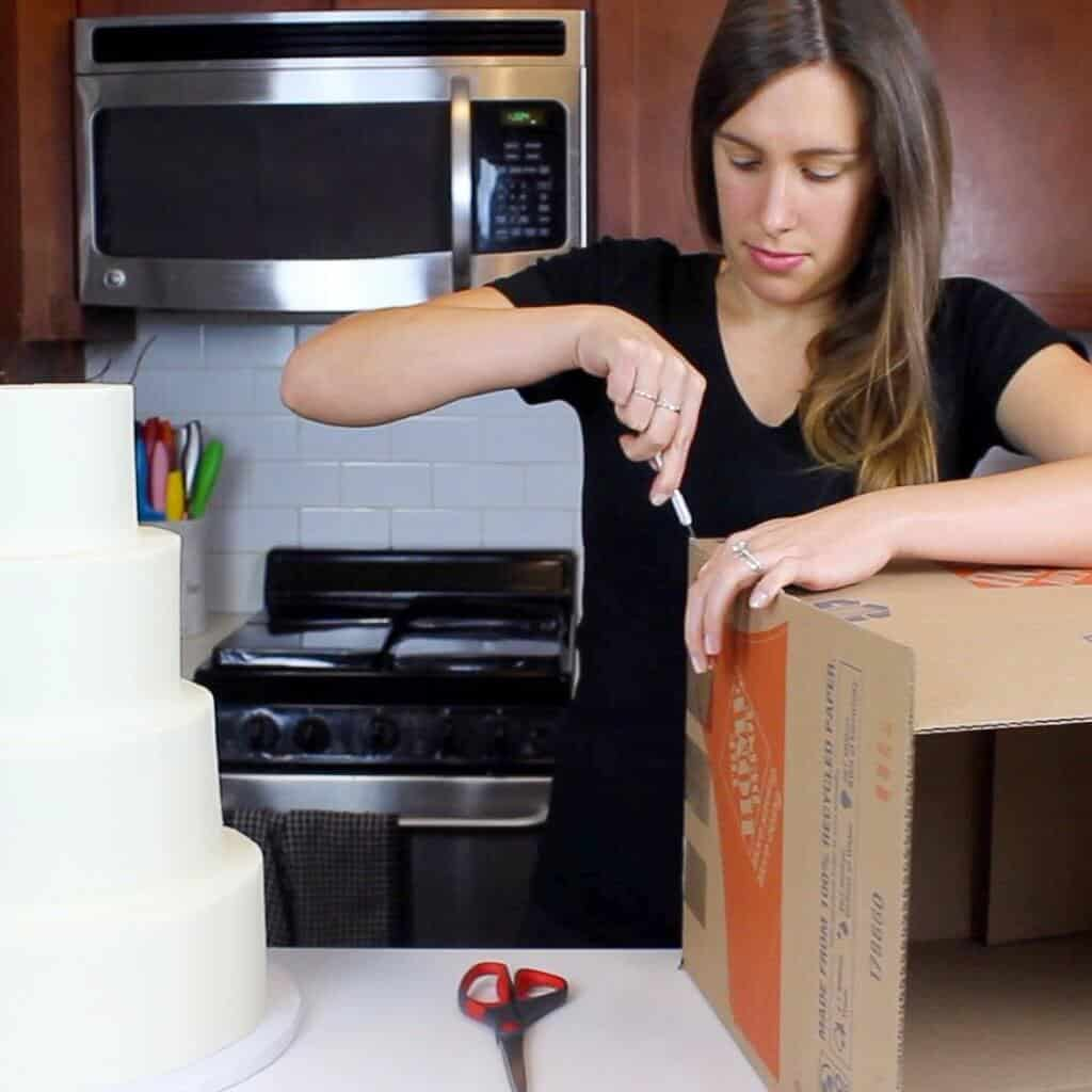 DIY wedding cake box
