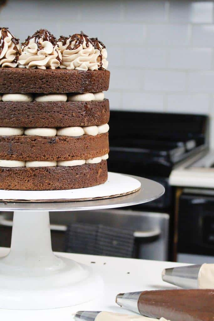 Naked Chocolate Cake - The Easiest Way To Decorate A Cake-3014