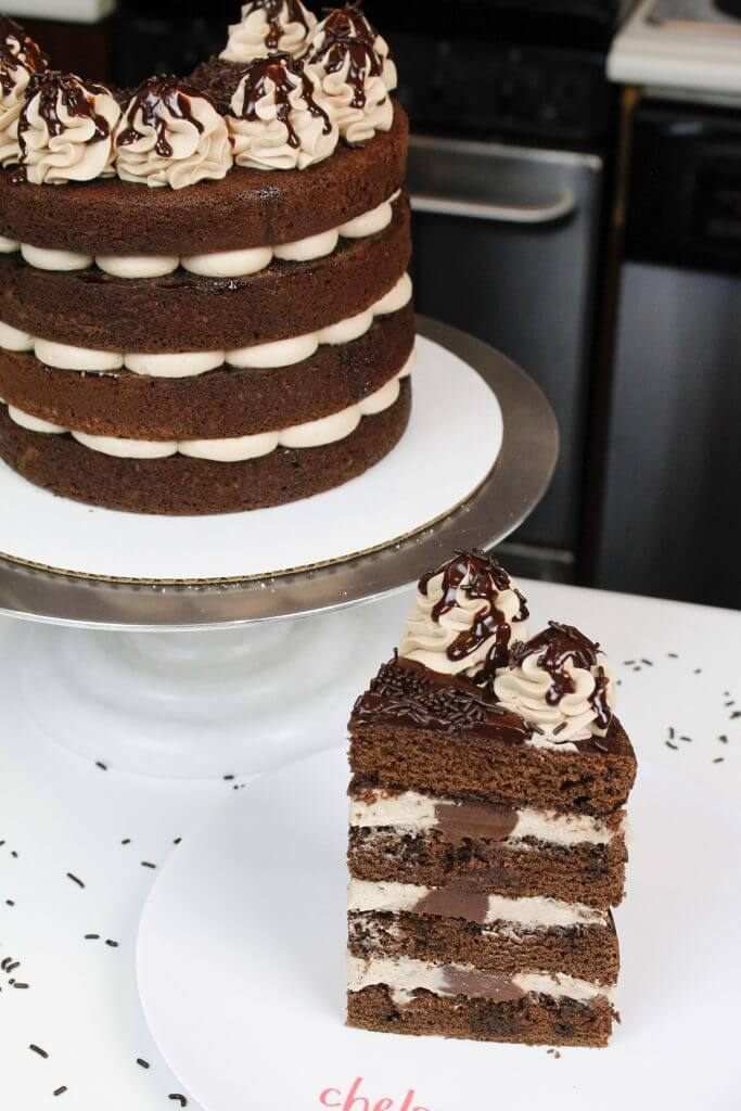 Easy and delicious naked chocolate cake