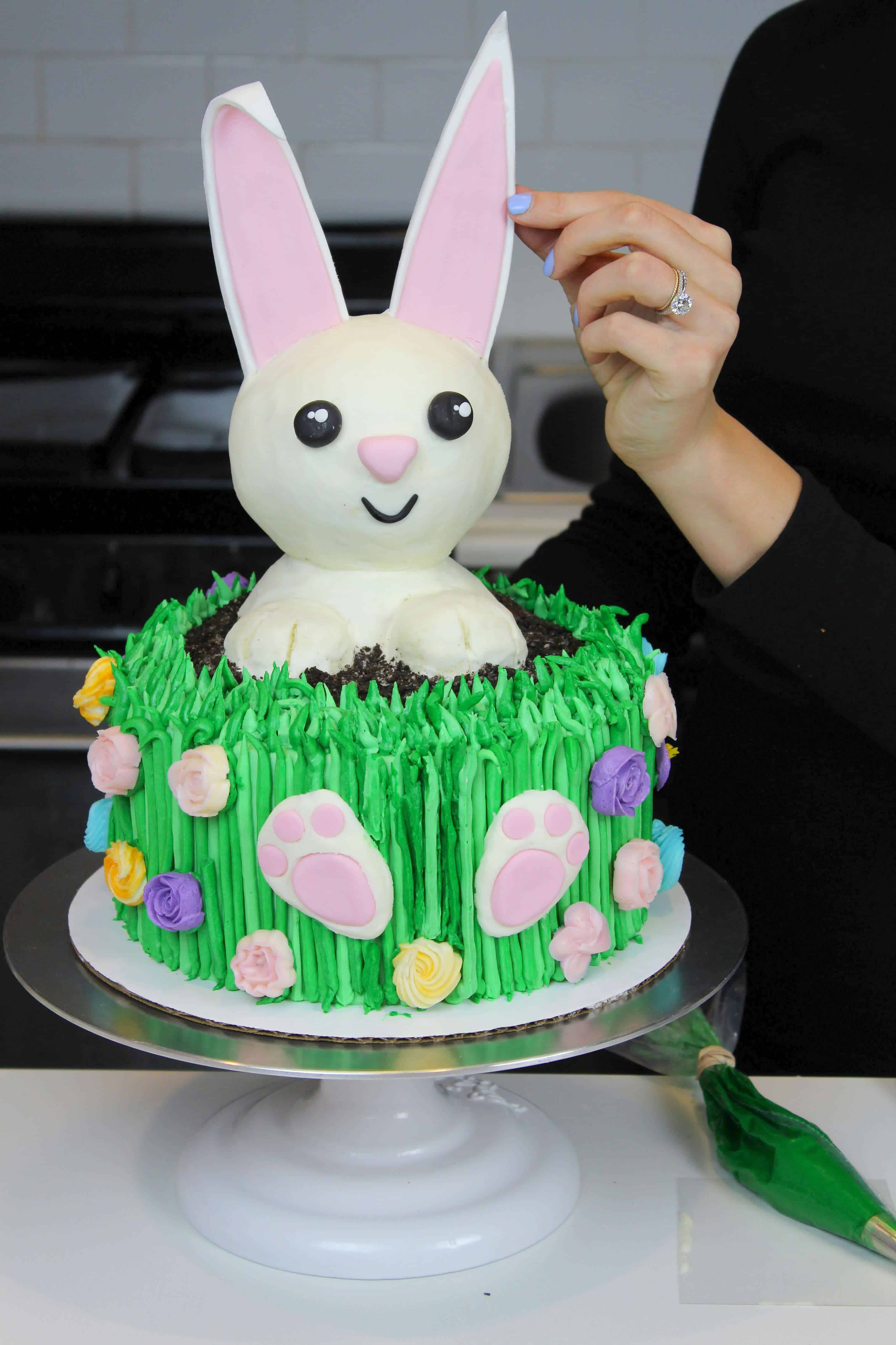 Buttercream Easter Bunny Cake