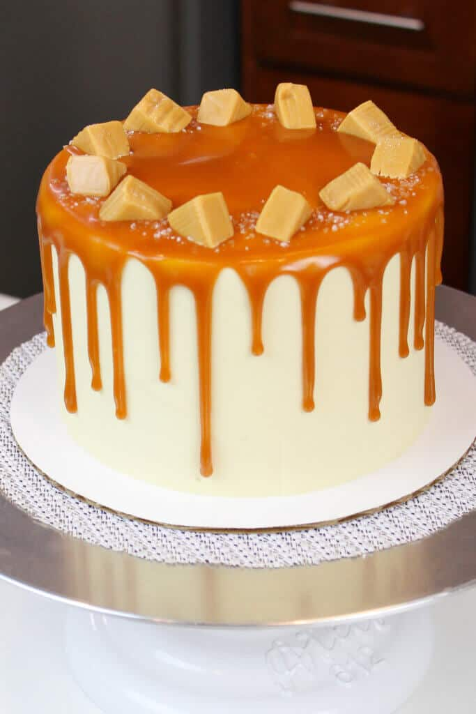 photo of salted caramel cake recipe