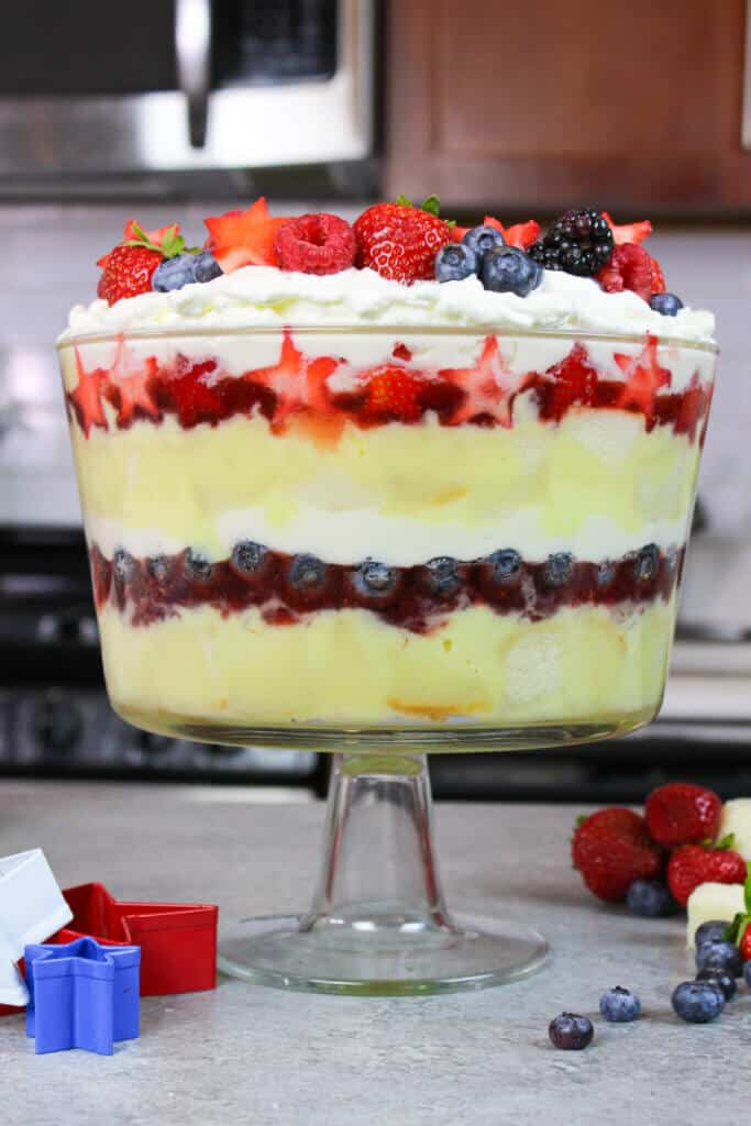 photo of patriotic trifle for fourth of july