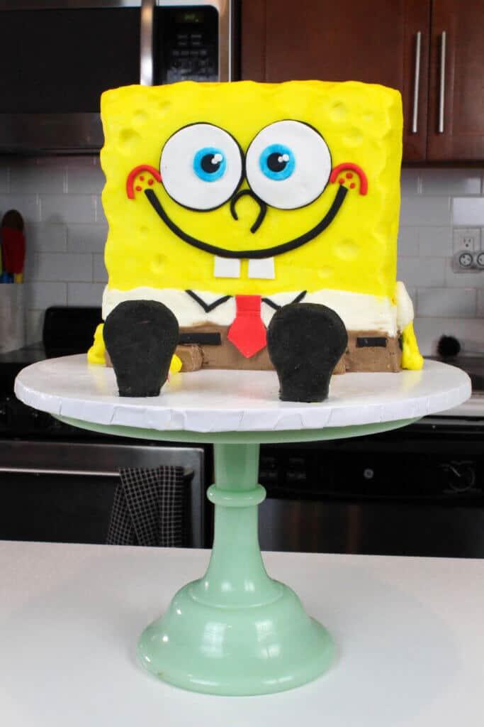 buttercream spongebob cake