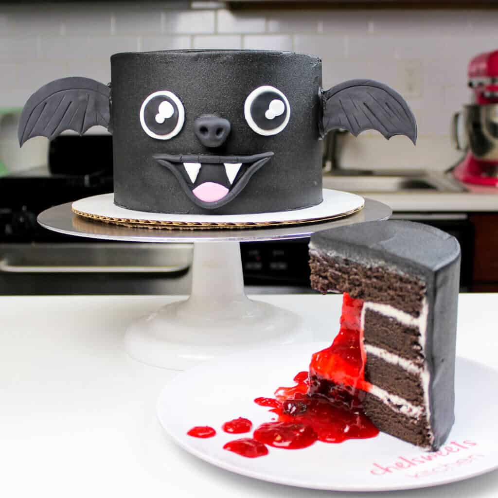 image of vampire bat cake
