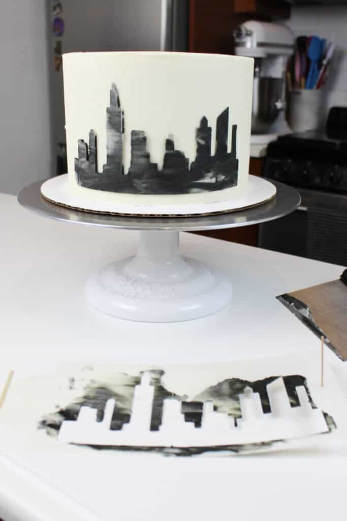 photo of skyline cake