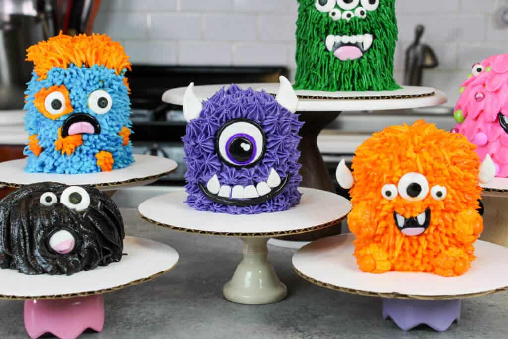 image of furry monster cake