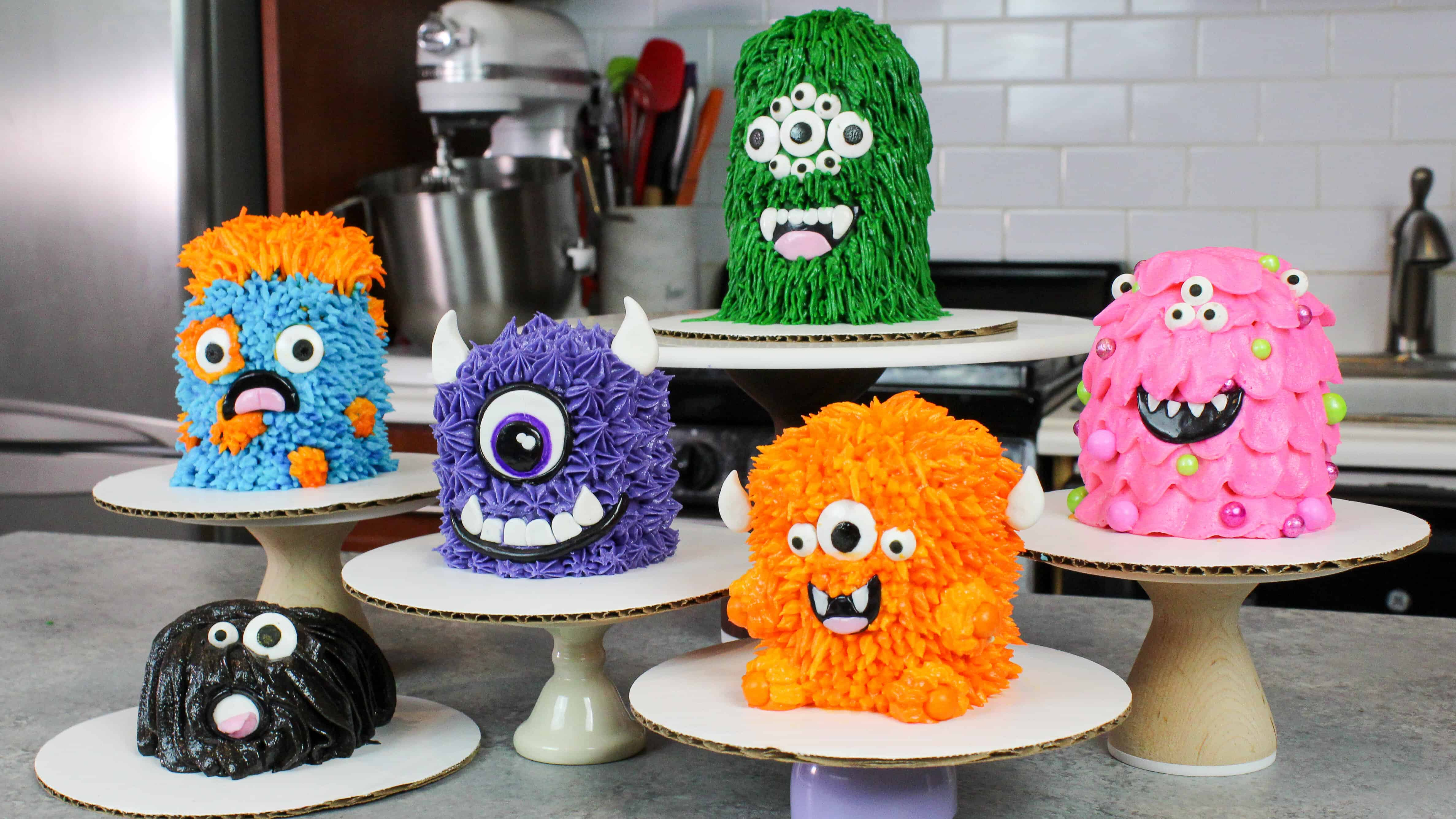 Monster Cakes The Easiest And Cutest Little Cakes