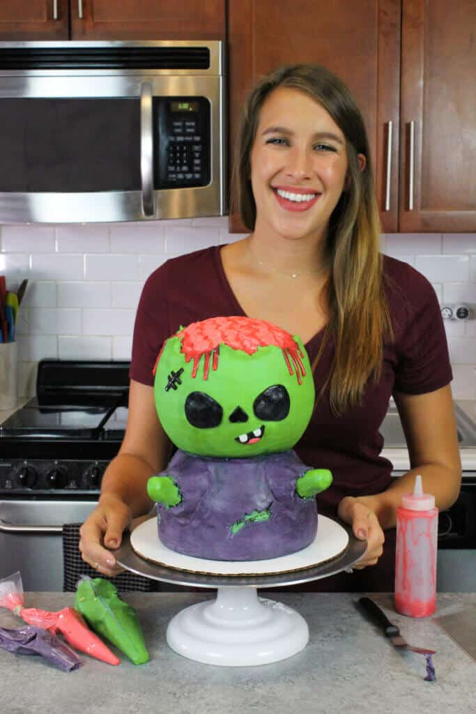 image of chelsey white chelsweets with zombie cake