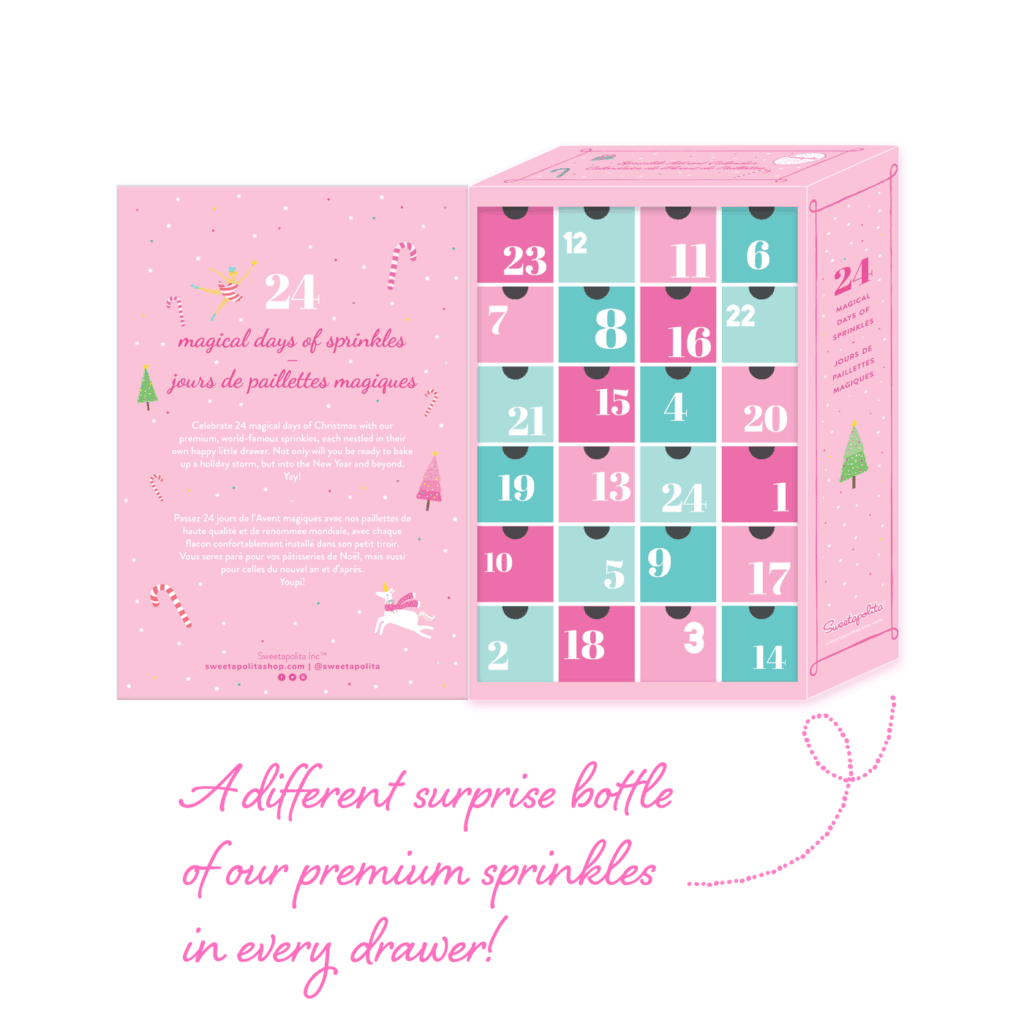 image of sprinkle advent calendar as gift for bakers