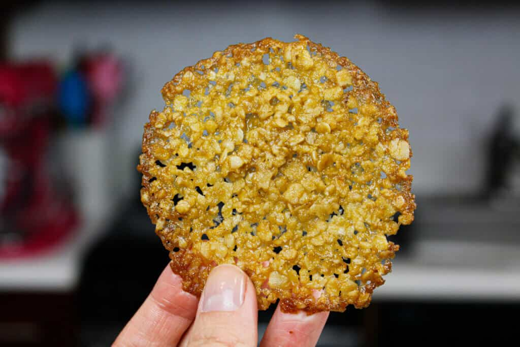 image of baked lace cookie
