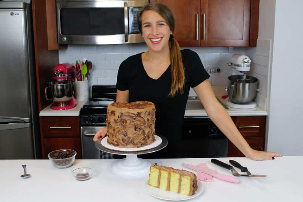 image of chelsey white with yellow cake