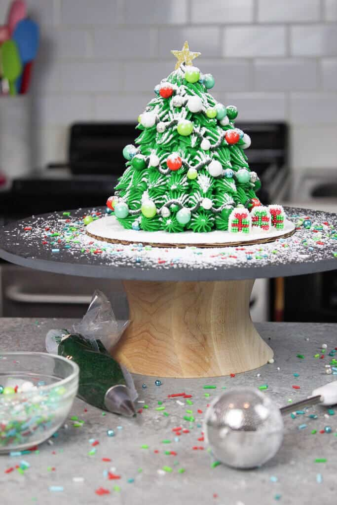 image of mini christmas tree cake