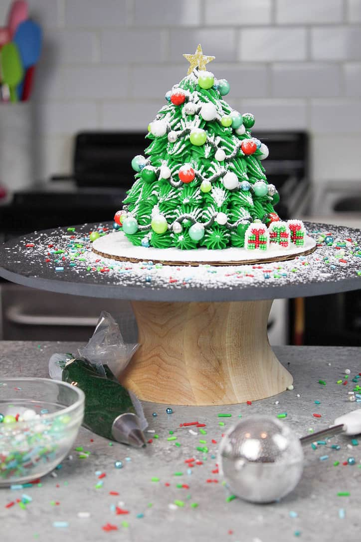 image of mini christmas tree cake