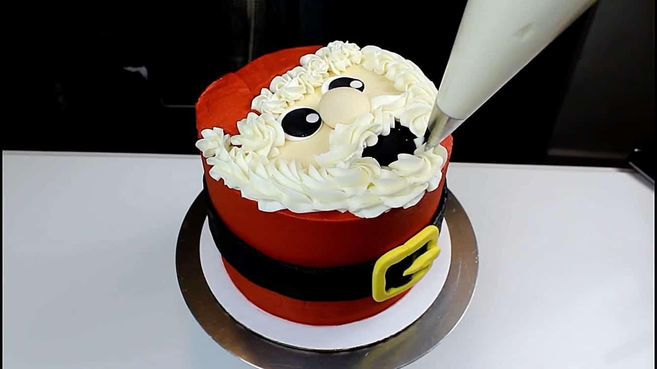image of santa cake