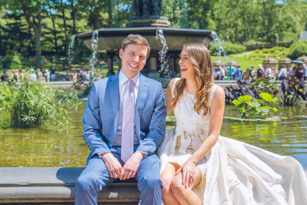 image of chelsey white of chelsweets and her husband from their wedding