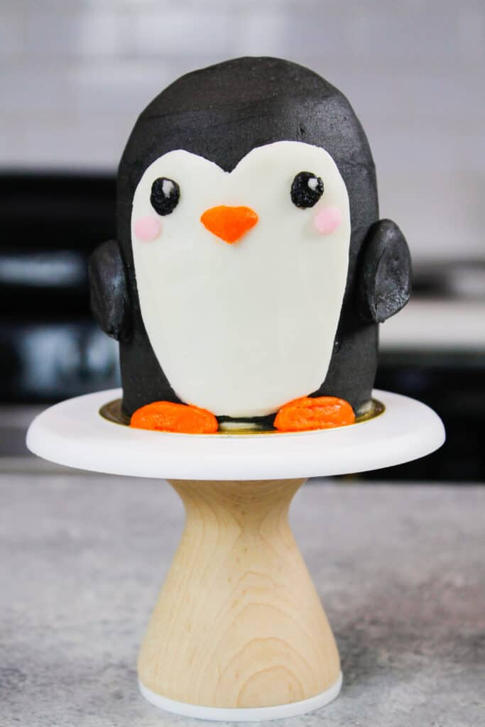 image of cute penguin cupcake stack