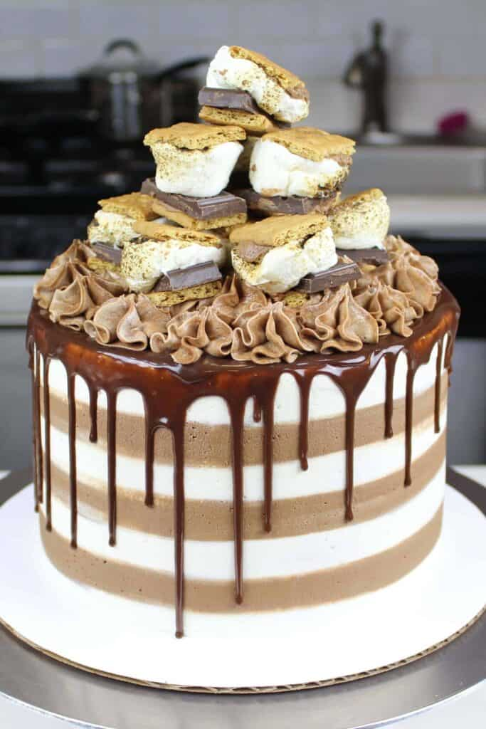 image of chelsweets smores cake