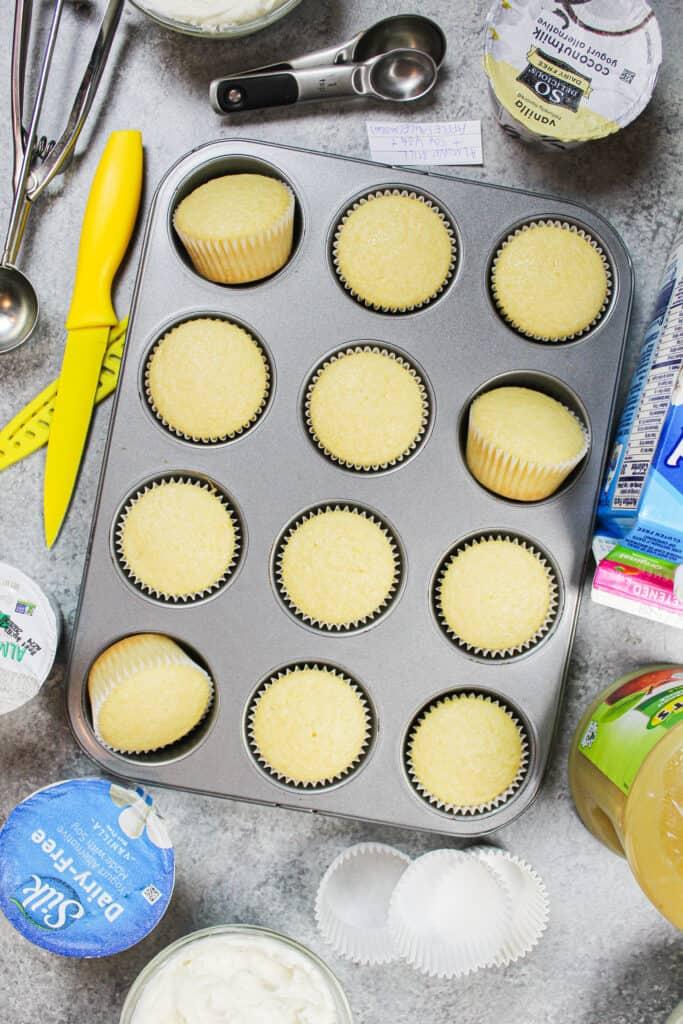 image of vanilla almond cupcakes