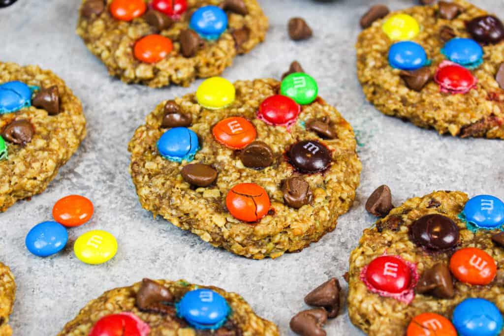 image of 5 ingredient gluten free monster cookies