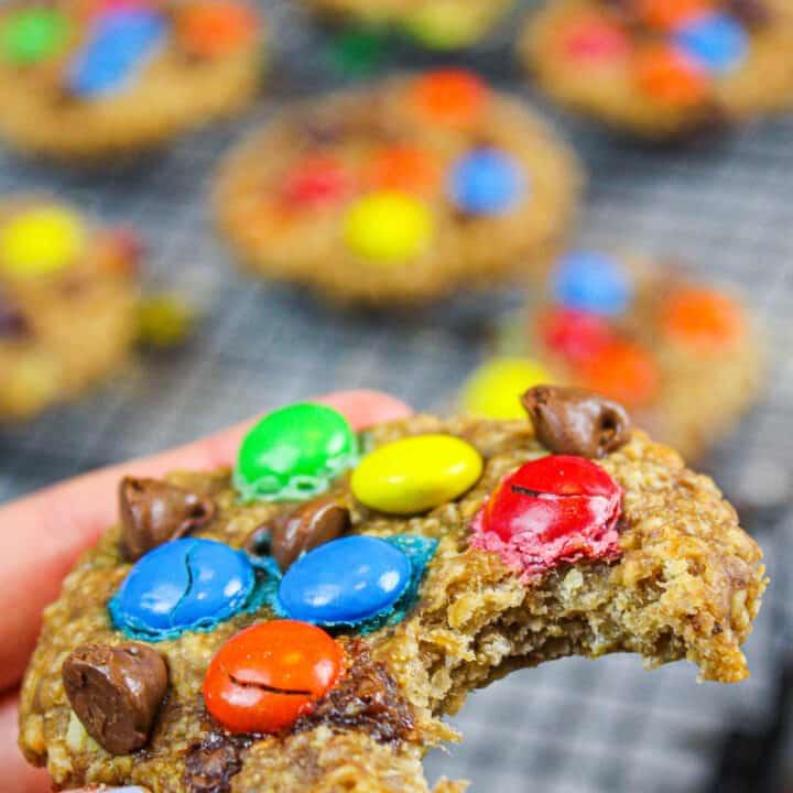 Gluten Free Monster Cookies The Easiest 5 Ingredient Recipe