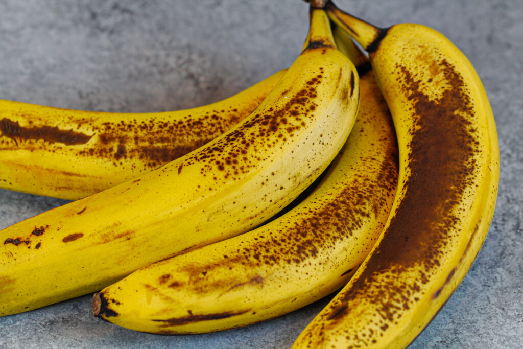 image of super ripe brown bananas, ready to be used to make banana bread